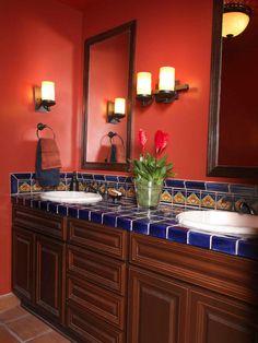 If i had a Moroccan/Spanish style home [ MexicanConnexionForTile.com ] #interior #Talavera #handmade