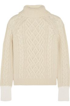 Topshop Unique Keswick cable-knit wool turtleneck sweater | NET-A-PORTER