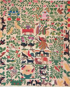 Applique Album Quilt Top, 1858-1863. Poughkeepsie, New York. Museum of American Folk Art.