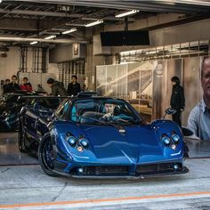 Pagani Zonda Kiryu made out of Blue and Black exposed carbon fiber  Photo taken by: @prototype0official on Instagram