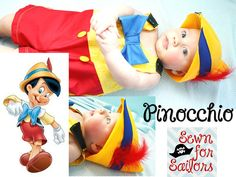 disney's Pinocchio inspired baby boys jonjon/ costume/ outfit/ clothes sizes 1,2,3,4 on Etsy, $46.00