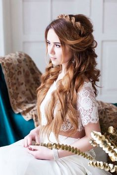 Greek Wedding Hairstyles For The Divine Brides ❤ See more…