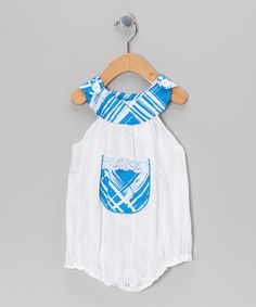 Take a look at this Turquoise Stripe Bubble Bodysuit - Infant by Beary Basics on #zulily today!