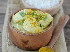 Colombo de poisson créole Tasty, Yummy Food, Guacamole, Coco, Hummus, Potato Salad, Mashed Potatoes, Veggies, Breakfast