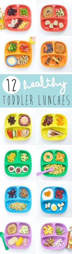 12 Healthy Toddler Lunch Ideas (with hidden veggies These 12 Healthy Toddler Lunches are nutrient packed (we are even going to hide some extra veggies in them) and balanced meals that will be devoured by your toddler in no time at all! Healthy Toddler Lunches, Healthy Kids, Healthy Toddler Breakfast, Healthy Baby Food, Healthy Nutrition, Toddler Lunchbox Ideas, Healthy Meals For Toddlers, Healthy Kid Lunches, Preschool Lunch Ideas