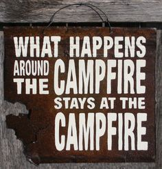 Rustic Cabin Campfire Sign by ZietlowsCustomSigns on Etsy glamping-camping Camping Glamping, Camping Life, Camping Meals, Camping Hacks, Outdoor Camping, Camping Stuff, Camping Signs, Camping Recipes, Rv Life