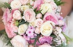 Traditional Soft Pink and Cream Wedding Bouquet With David Austin Roses By Serendipity, Leeds