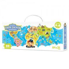 Puzzle Mapa świata Zwierzęta