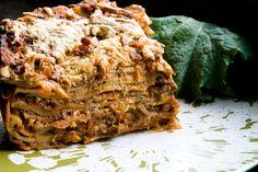Veganized Version Of Del Posto's 100-Layer Lasagna #vegan // omit oil // use homemade cheese