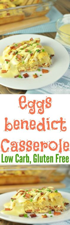 Low Carb Eggs Benedict Breakfast Casserole - Keto, Gluten Free | Peace Love and Low Carb | peaceloveandlowca...