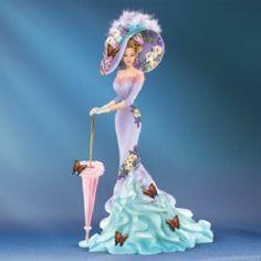 Lena Liu A Flirtatious Glance Flutters of Romance Victorian Lady Figurine | eBay
