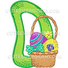 Cute Easter Font - Cute Alphabets - Embroidery Fonts