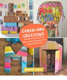 Buy Cardboard Creations by Barbara Rucci at Mighty Ape NZ. Age range 6 to 8 Look no further than your recycling bin to ignite your child's imagination! Featuring more than 20 sustainable art projects (with m. Diy With Kids, Art For Kids, Kid Art, Kids Fun, Weaving For Kids, Kids Study, Collaborative Art, Process Art, Crafts For Teens