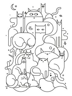 Cute line illustration design