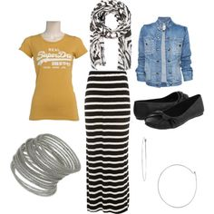 Very casual school outfit, created by edith-a-giles on Polyvore