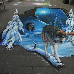 Sidewalk chalk art...amazing!