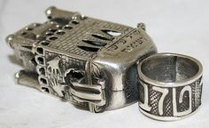 antique jewish wedding rings | Details about Vintage Israeli Silver Judaica Wedding Ring 1950~