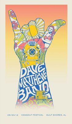 DMB Poster 5-20-2012 - Hangout Festival - Gulf Shores, AL