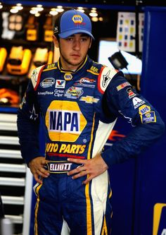 Chase Elliott, driver of the #9 NAPA Auto Parts Chevrolet, stands in the garage area during practice for the NASCAR Nationwide Series O'Reilly Auto Parts 300 at Texas Motor Speedway on April 3, 2014 in Fort Worth, Texas.  http://www.pinterest.com/jr88rules/jr-motorsports-2014/  #JrMotorsports2014
