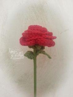 rosa crochet flower rose patron gratis ganchillo