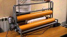 Валяние в рулоне с помощью ролл-машины. Шины