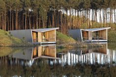 Completed in 2015 in Saubion, France. Images by Vincent Monthiers             , Mathieu Choiselat . Right in the heart of the Landes region of France, this hotel installation interacts with a landscaped tableau where human intervention is in...