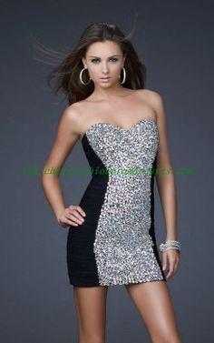 Black La Femme 16368 Short Ruched Net Strapless Prom Dress [10207] - $147.60 : Cheap Fashion Prom Dresses http://www.cheapfashionpromdresses.com/black-la-femme-16368-short-ruched-net-strapless-prom-dress-p-207.html