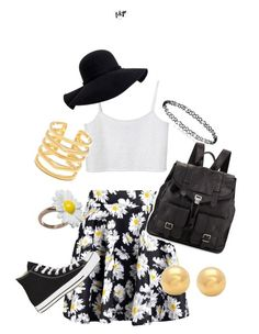"""""""Daisies"""" by niyafashion on Polyvore featuring Boohoo, Monki, Converse, Proenza Schouler, Aéropostale and Stella & Dot"""