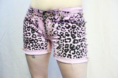 Spring Cleaning Studded Shorts Leopard Print  Dip Dye by xannabotx, $20.00