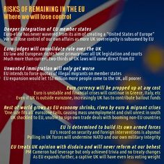 Risks of Remaining #Brexit