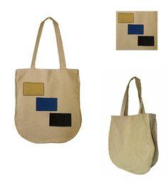 Torba na zakupy NATURAL BAGS - rectangles w HANAKO na DaWanda.com