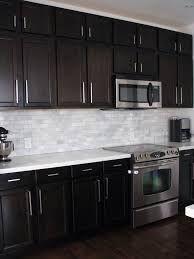 Image result for backsplash ideas for kitchen with dark cabinets