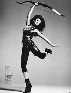 Join at the range. Shall arrows fly with 还有 化身胜利女神,射出梦想之箭。 From Vogue China August, 2008 Photographer: Mario Sorrenti Stylist: Andrew Richardson Vogue China, Vogue Poses, Maggie Cheung, Good Poses, Interesting Faces, Style Icons, Olympics, Chic, Instagram Posts