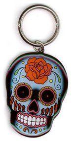Sunny Buick - Rose Sugar Skull - Metal Keychain by Sunny Buick, http://www.amazon.com/dp/B002JHBIK8/ref=cm_sw_r_pi_dp_lWF9rb0BPWW4F/184-3926875-3046015