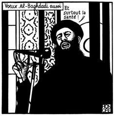 "Philippe Honoré - son dernier dessin dans ""Charlie Hebdo"" (n° 1777) du 7 janvier 2015"