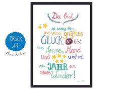 Weiteres - *Baby* Print zur Geburt - ein Designerstück von Frau-Ottilie bei DaWanda