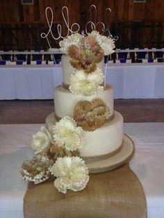 Calumet Bakery Peony and Twine Wedding Cake