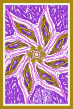 The Healing Mandala of Violet and Golden Rays by SoulFood4TheSoul, $25.00