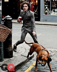Guy in suit with dog, GQ - Google Search