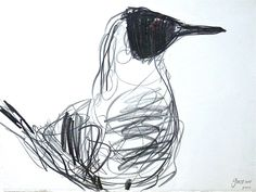 Jason Gathorne-Hardy suffolk artist - bird drawings sketches #Suffolk #England #UK