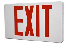 Buy LED Exit Sign with Self Diagnostic Testing http://www.emergencylights.net/self-diagnostic-testing-led-exit-sign/