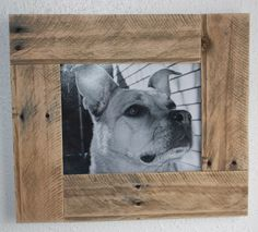 Reclaimed Wood Rustic Pallet  Picture Frame. $45.00, via Etsy.