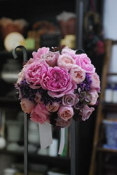 Pink × Purple bridal bouquet