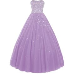 Wedtrend Women's Princess Ball Gown Party Dress Quinceanera Dress with... ($229) ❤ liked on Polyvore featuring dresses, beading dress, purple dress, beaded dress and purple beaded dress