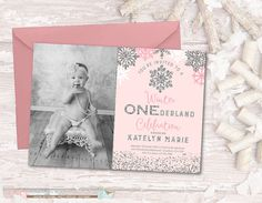 Winter Birthday Invitation Winter by PartyInvitesAndMore on Etsy