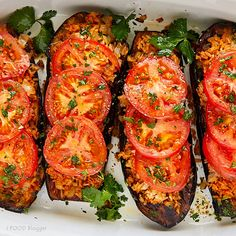 Delicious and easy to prepare fried eggplant with rice and tomatoes. This dish is low calorie and healthy, but will make even meat eaters happy as it tastes ridiculously good.
