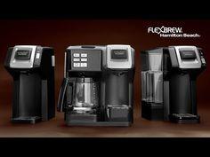 The FlexBrew Coffee Maker from Hamilton Beach - How You Brew Is Up To Yo... Hamilton Beach, Drip Coffee Maker, Carafe, Brewing, Coffee Making Machine, Decanter