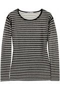 T by Alexander Wang | Striped jersey top | NET-A-PORTER.COM