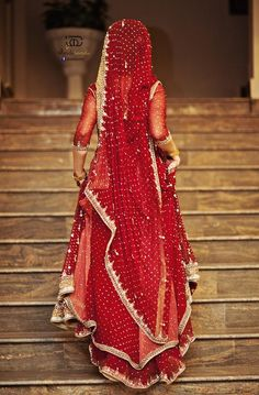 Red Bride #lehenga #choli #indian #shaadi #bridal #fashion #style #desi #designer #blouse #wedding #gorgeous #beautiful