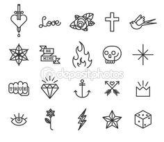 Tatuagem da velha escola — Ilustração vetorial #72327379